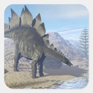 Stegosaurus dinosaur - 3D render Square Sticker