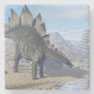 Stegosaurus dinosaur - 3D render Stone Coaster