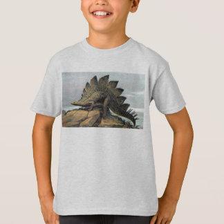 Stegosaurus Dinosaur Antique Print T-Shirt