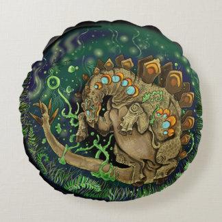Stegosaurus Dinosaur Art Round Pillow