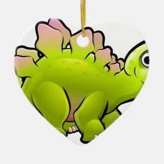 Stegosaurus Dinosaur Cartoon Character Ceramic Ornament