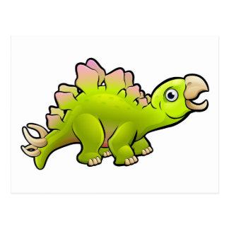 Stegosaurus Dinosaur Cartoon Character Postcard
