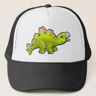 Stegosaurus Dinosaur Cartoon Character Trucker Hat