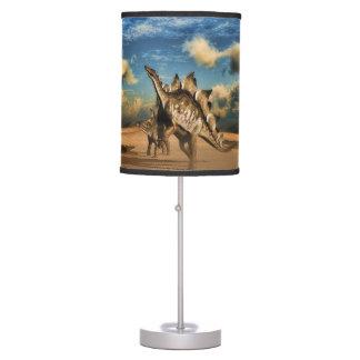 Stegosaurus dinosaur in the desert table lamp