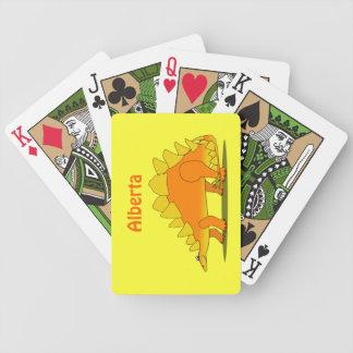 Stegosaurus Dinosaur Personalized Playing Cards