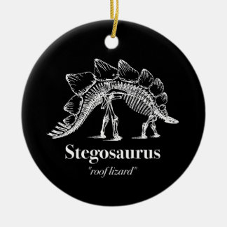 Stegosaurus Dinosaur Skeleton Bones Cool Ceramic Ornament
