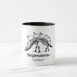 Stegosaurus Dinosaur Skeleton Bones Cute Mug