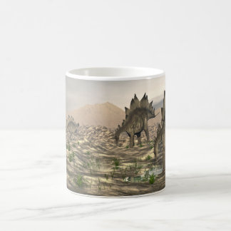 Stegosaurus near water - 3D render Coffee Mug