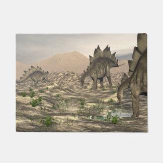 Stegosaurus near water - 3D render Doormat