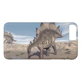 Stegosaurus near water - 3D render iPhone 8 Plus/7 Plus Case