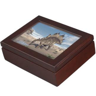 Stegosaurus near water - 3D render Keepsake Box