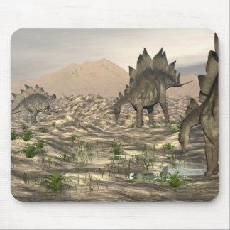 Stegosaurus near water - 3D render Mouse Pad