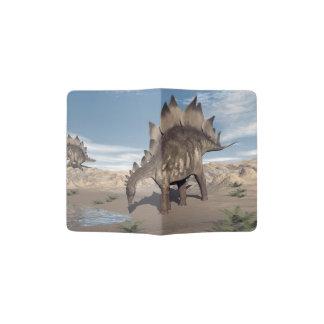 Stegosaurus near water - 3D render Passport Holder