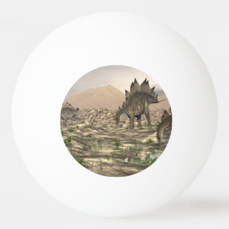 Stegosaurus near water - 3D render Ping Pong Ball