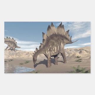 Stegosaurus near water - 3D render Sticker