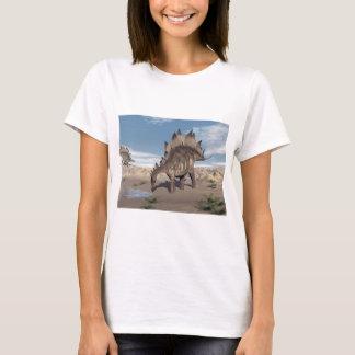 Stegosaurus near water - 3D render T-Shirt