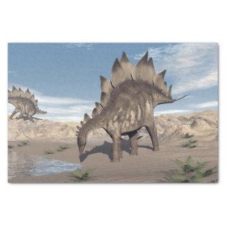 Stegosaurus near water - 3D render Tissue Paper