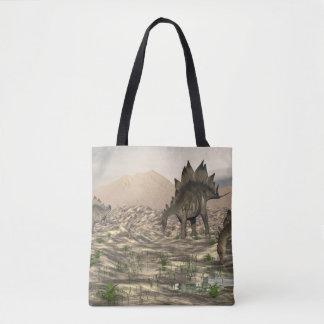 Stegosaurus near water - 3D render Tote Bag
