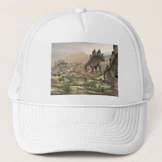 Stegosaurus near water - 3D render Trucker Hat