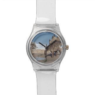 Stegosaurus near water - 3D render Watch