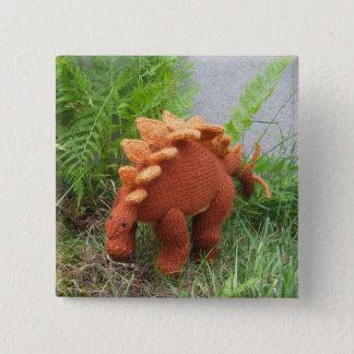 Stegosaurus pin-back button