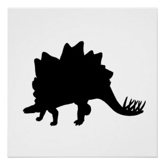 Stegosaurus Silhouette Perfect Poster