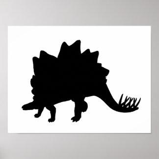 Stegosaurus Silhouette Poster