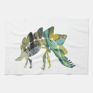 Stegosaurus Skeleton Kitchen Towel