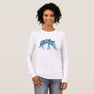 Stegosaurus Skeleton Long Sleeve T-Shirt