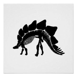 stegosaurus skeleton perfect poster