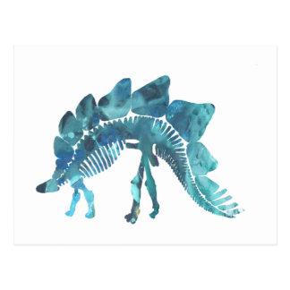 Stegosaurus Skeleton Postcard