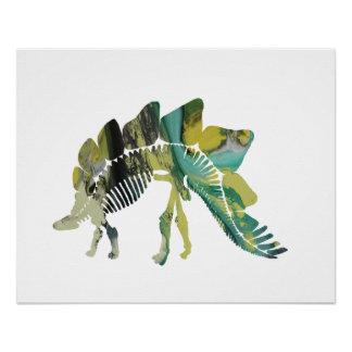 Stegosaurus Skeleton Poster
