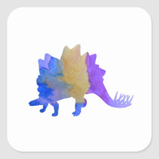 Stegosaurus Square Sticker