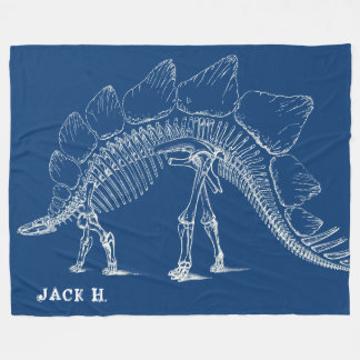 Stegosaurus To The Max Custom Dinosaur Bones Fleece Blanket