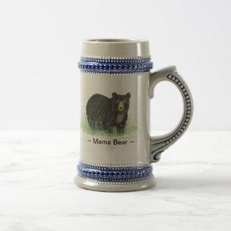 Stein bleu de bière d'équilibre d'ours noir de ~ chope à bière