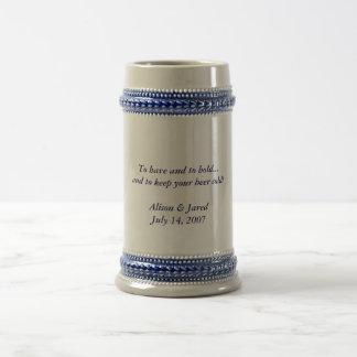 Stein de bière de mariage tasse à café