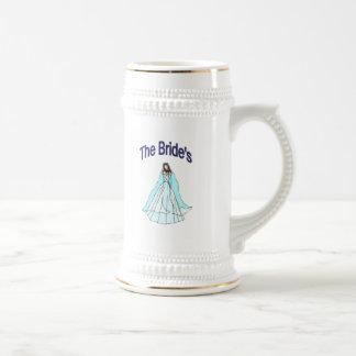 Stein de la jeune mariée chope à bière