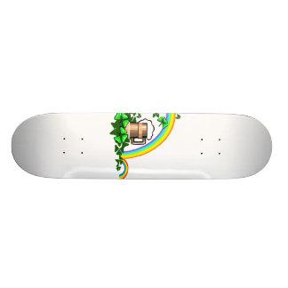 stein rainbows clover st patricks png skateboard deck
