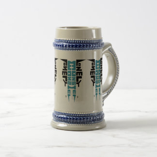 Stein with Black/Teal Totem Logo