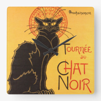Steinlen: Chat Noir Clocks