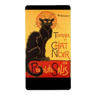 Steinlen: Chat Noir Shipping Label