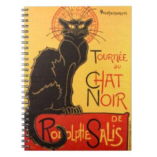 Steinlen: Chat Noir Spiral Notebook