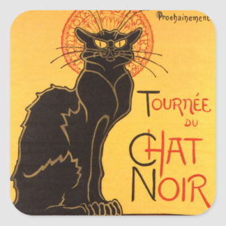 Steinlen: Chat Noir Square Sticker