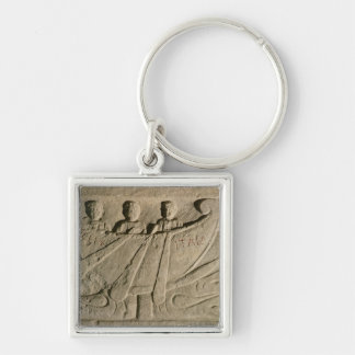 Stela depicting a rowing boat 'Felix Itala' Keychain