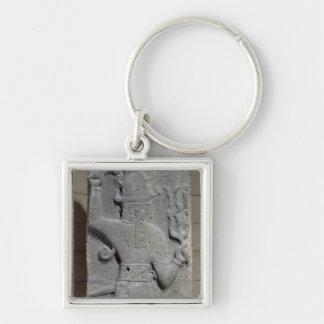 Stela of Teshub, Syrian storm god Keychain