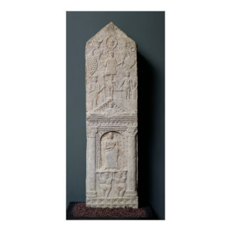 Stela votif consacré à Saturn Affiche
