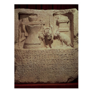 Stele of the miller Marcus Careius Asisa Postcard