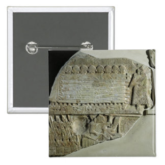 Stele of the Vultures 2 Inch Square Button