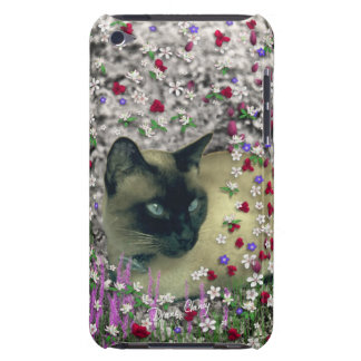 Stella in Flowers II, Chocolate Cream Siamese Cat iPod Touch Covers