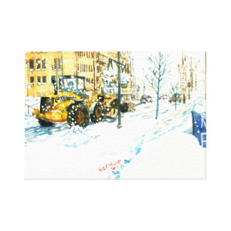 Stella snow storm in Racine Wisconsin Canvas print